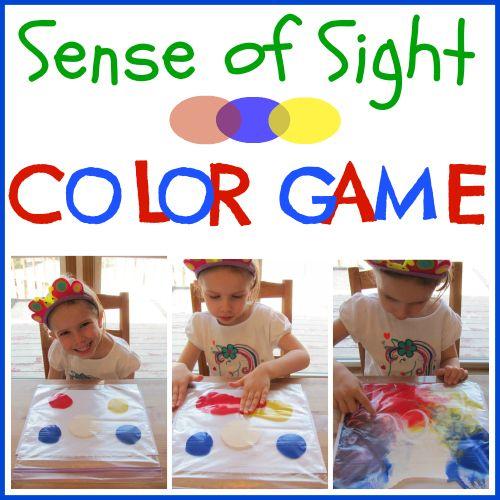 Color Game- Sensory Activity ~Creative Christian Mama