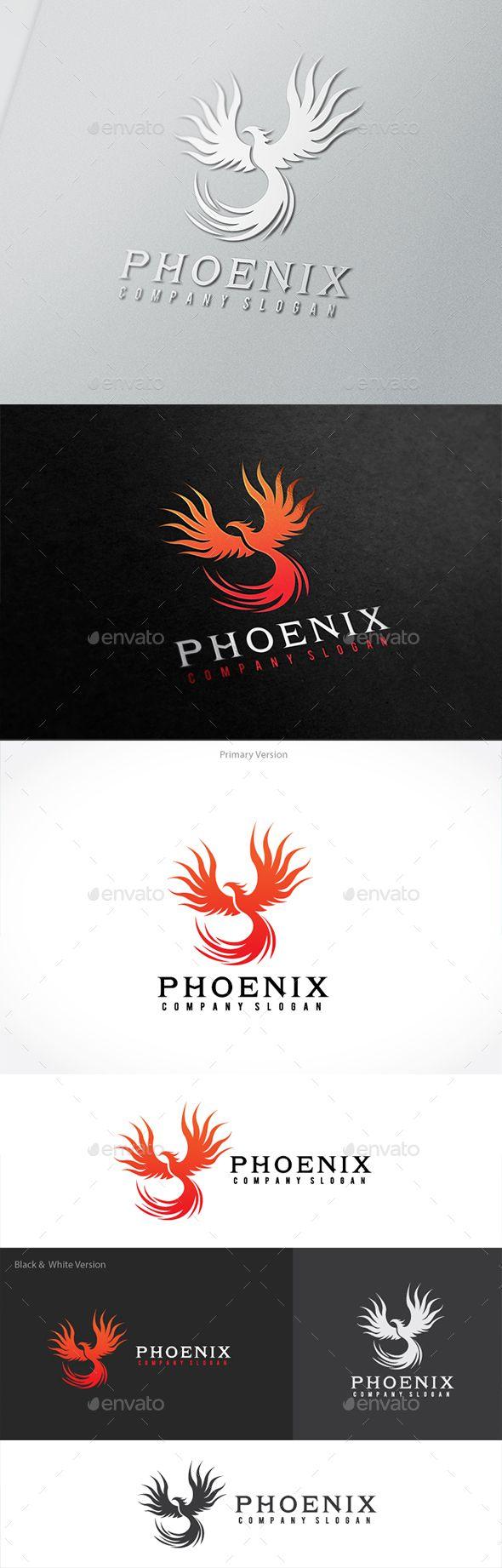 Phoenix — Vector EPS #calligraphy #identity • Available here → https://graphicriver.net/item/phoenix/15389894?ref=pxcr