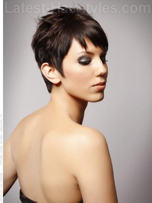 Perfect Pixie Fun Brunette Piecey Style - Side View