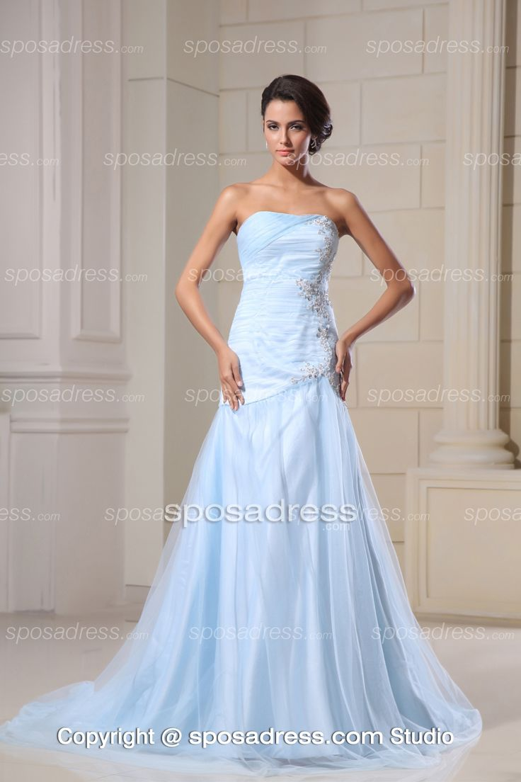 17 best images about going to the chapel on pinterest for Light blue and white wedding dresses