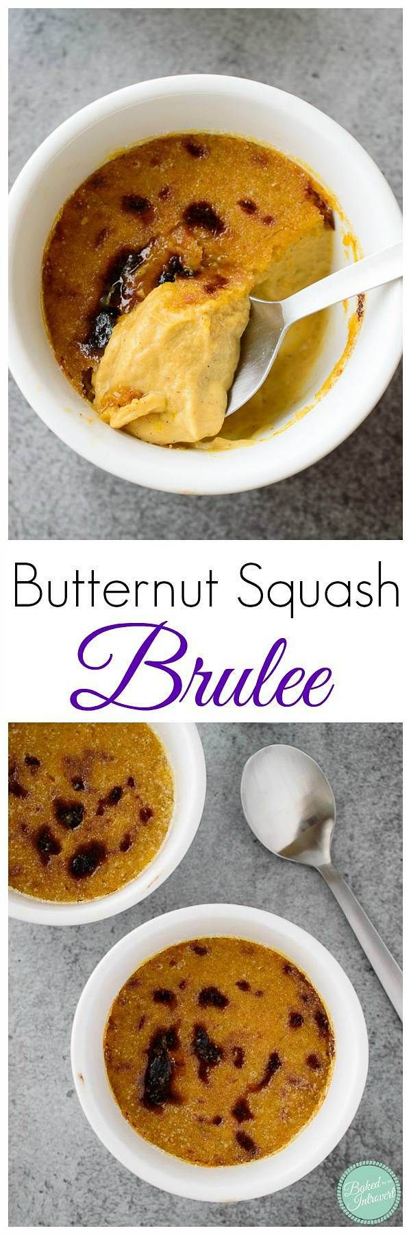 Butternut Squash Brulee - Sweet, creamy butternut squash custard topped with crunchy caramelized sugar. This is a brulee you will want to make over and over again.