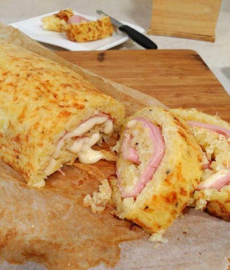 marronglacè: Brazo de patata relleno de jamón y queso
