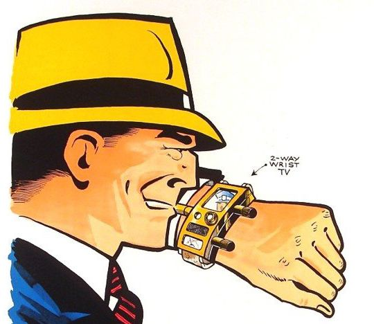 Dick tracy comic strip and technology