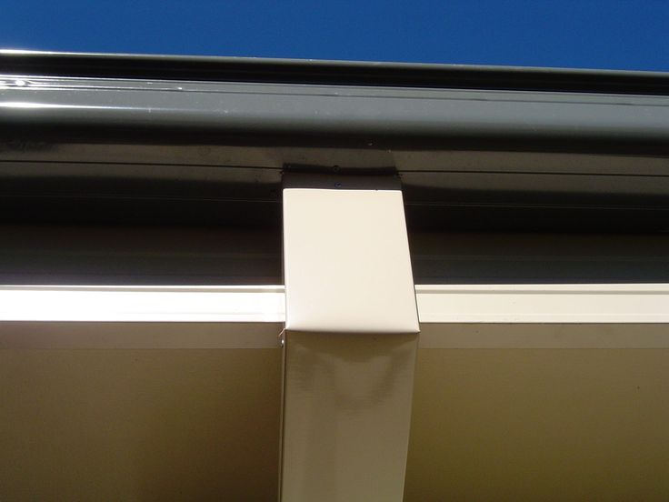 Gutters, fascia cover and down pipe