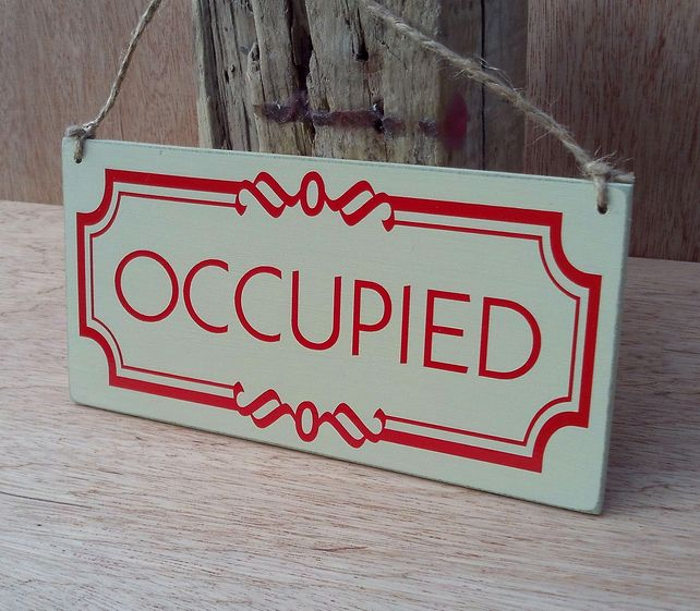 Occupied Vacant Double Sided Toilet Door Sign Toilet Door Sign Bathroom Signs Toilet Door