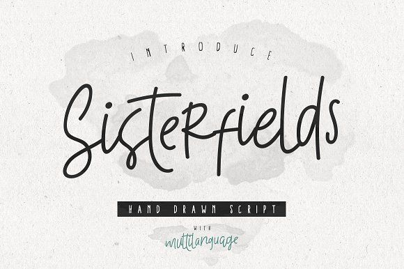 Sisterfields Script - 35% OFF by giemons™ on @creativemarket