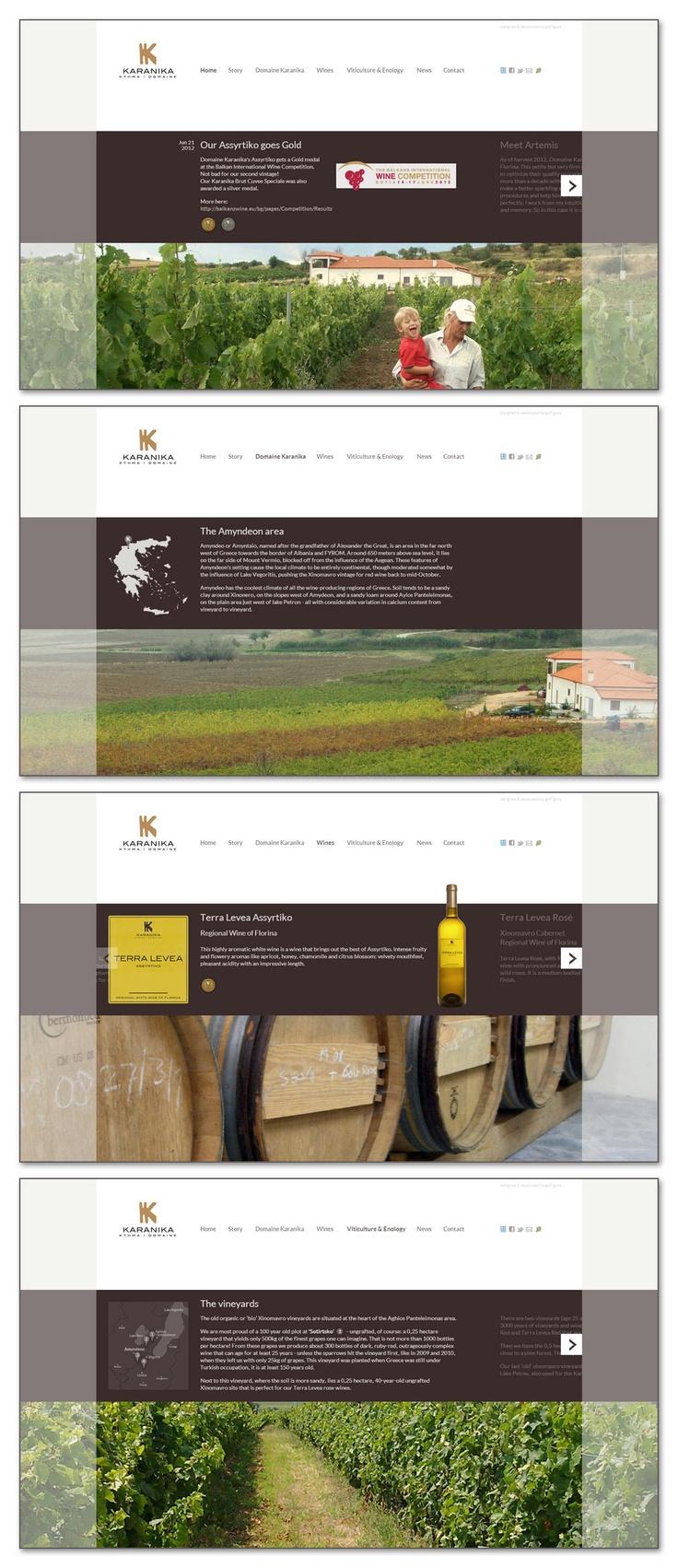 Domaine Karanika website
