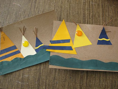 Teepee Craft Triangles Thanksgiving Crafts For Kids