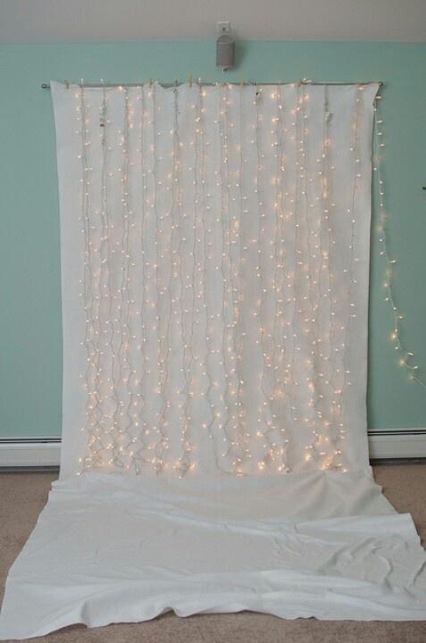 Backdrop white & lights