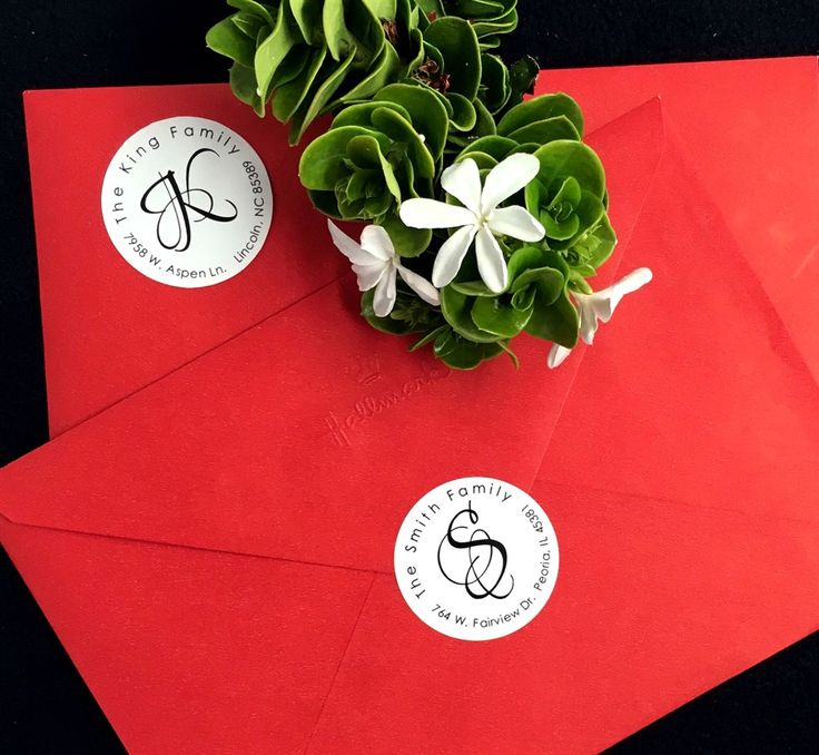 Do you love getting cards & letters in the mail? I know I do. There is something magical about opening your mailbox & finding a card with your name on it. Make someone's day with these circle address labels (set of 20).