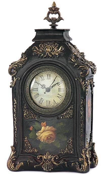 Victorian Trading Company Gilded Rose Clock