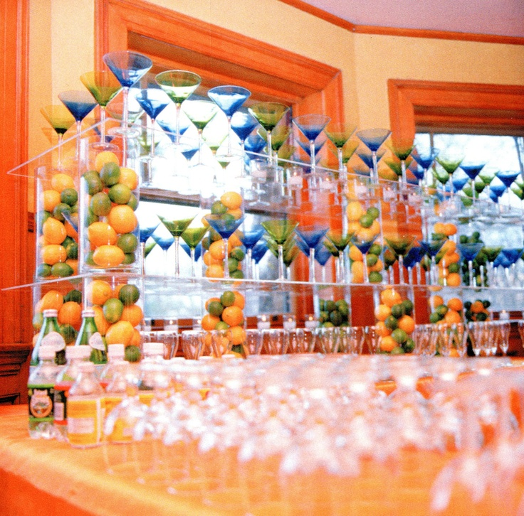 Festive, Colorful Martini Bar At The Paine Estate!