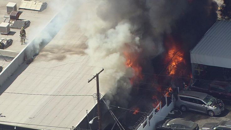 Oh no! http://abc7.com/news/fire-partially-engulfs-commercial-building-in-van-nuys/2094580/