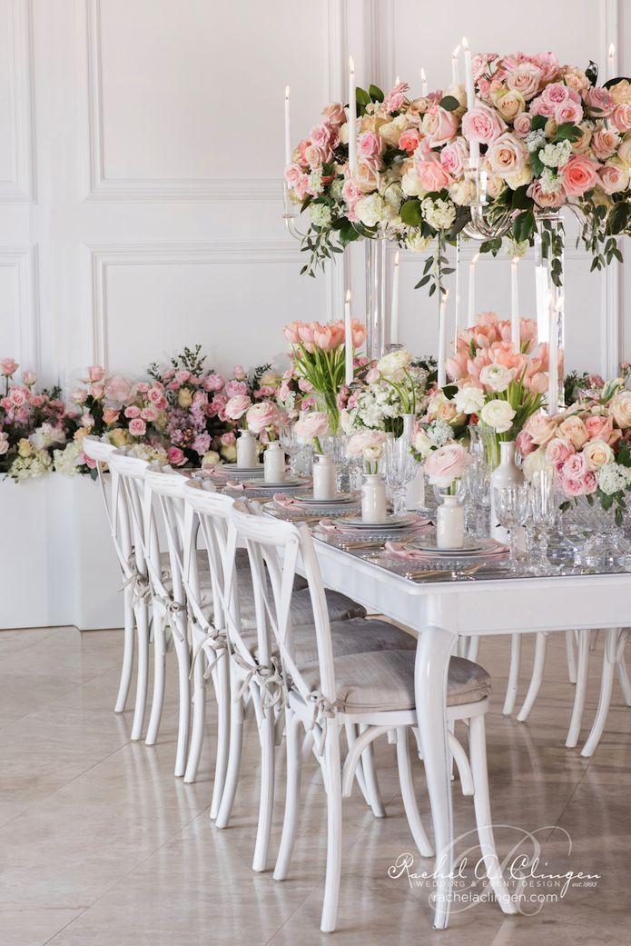 decoración de bodas de color Melocotón y Rosa 2