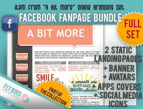 Facebook Static Pages and Profile Bundle A Bit by FlyBirdBranding, €20.00