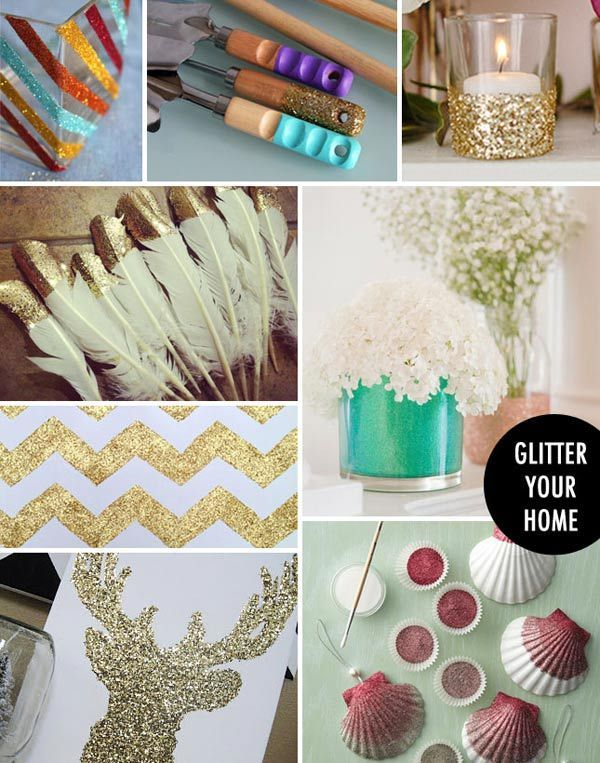 I'm absolutely sure that I need glitter tipped feathers for some reason. Make first, find purpose later.