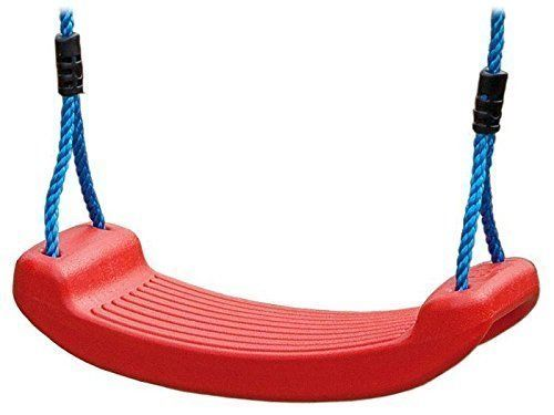 Plastique Blowmoulded Siège De Balançoire 195-255 cm Rouge J.-F.: Solide extrusion coup dur moulé HDPE siège de balançoire Côtés…
