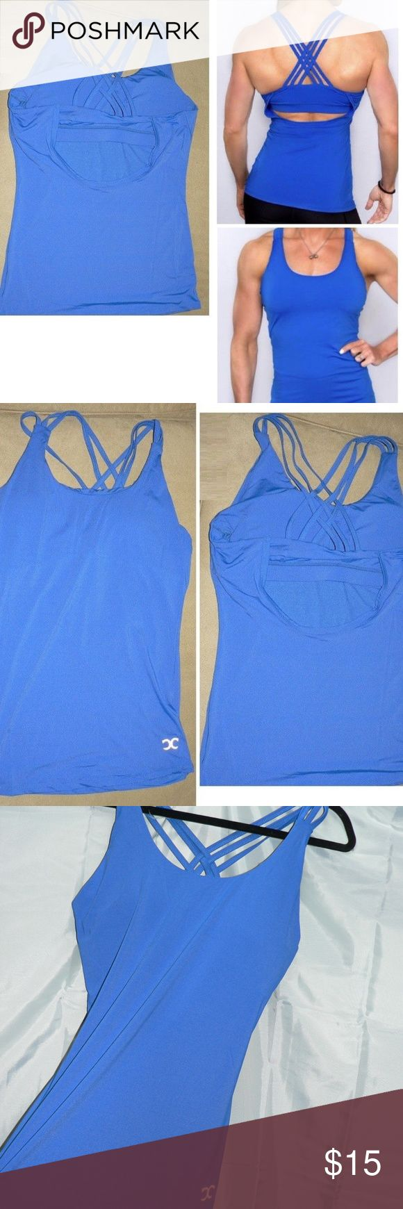 """New!Empowering YOGA Strappy Top Tank Sz LG Pro Run **NEW** Empowering  ATHLETIC Switchback Running, Crossfit, Gym,Athletic Top WOMENS Size Large -Dri-fit /Moisture Wick -Check out the Strappy Back on the Royal Blue-Padded CUPS which is nice --Measurements: Approx 34-36"""" Around bust/waist/chest  -Will Absolutely Stretch....... and 23"""" Length -Never WORN Empowering Tops Tank Tops"""