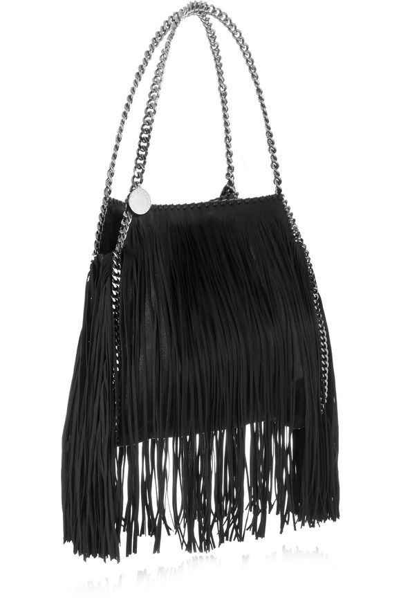 The Falabella fringed faux brushed-leather shoulder bag | STELLA McCARTNEY | Sale up to 70% off | THE OUTNET