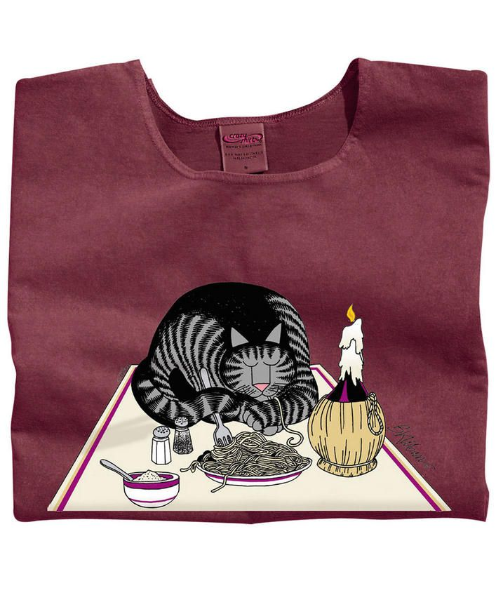 Chianti Cat - Wine-Dyed Scoop-Neck T-Shirt