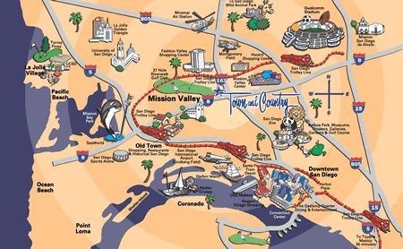nice San Diego Map Tourist Attractions