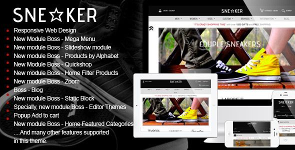 Opencart Fashion Shoes Store - #Sneaker - #Fashion #OpenCart