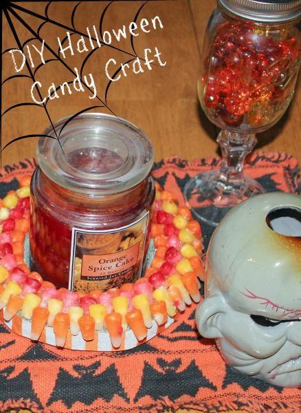 Easy DIY Halloween Candy Craft #StarburstCandyCorn #sponsored