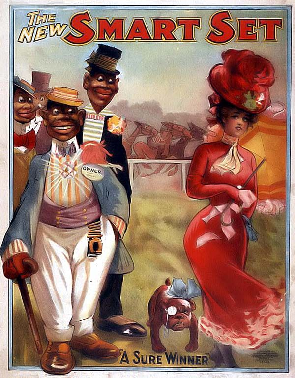Racist Cartoon You are viewing a picture of a Racist Cartoon created in 1906, which portrays a stereotypical view of Blacks at that time. Description from pinterest.com. I searched for this on bing.com/images