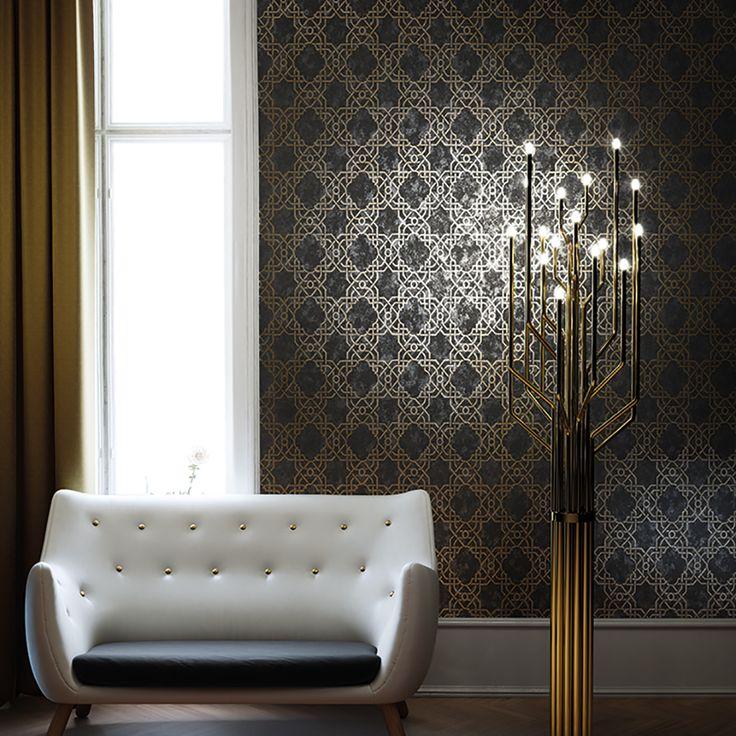 18 best Обои для спальни 50 идей для лучшего интерьера images on - goldene tapete modern design