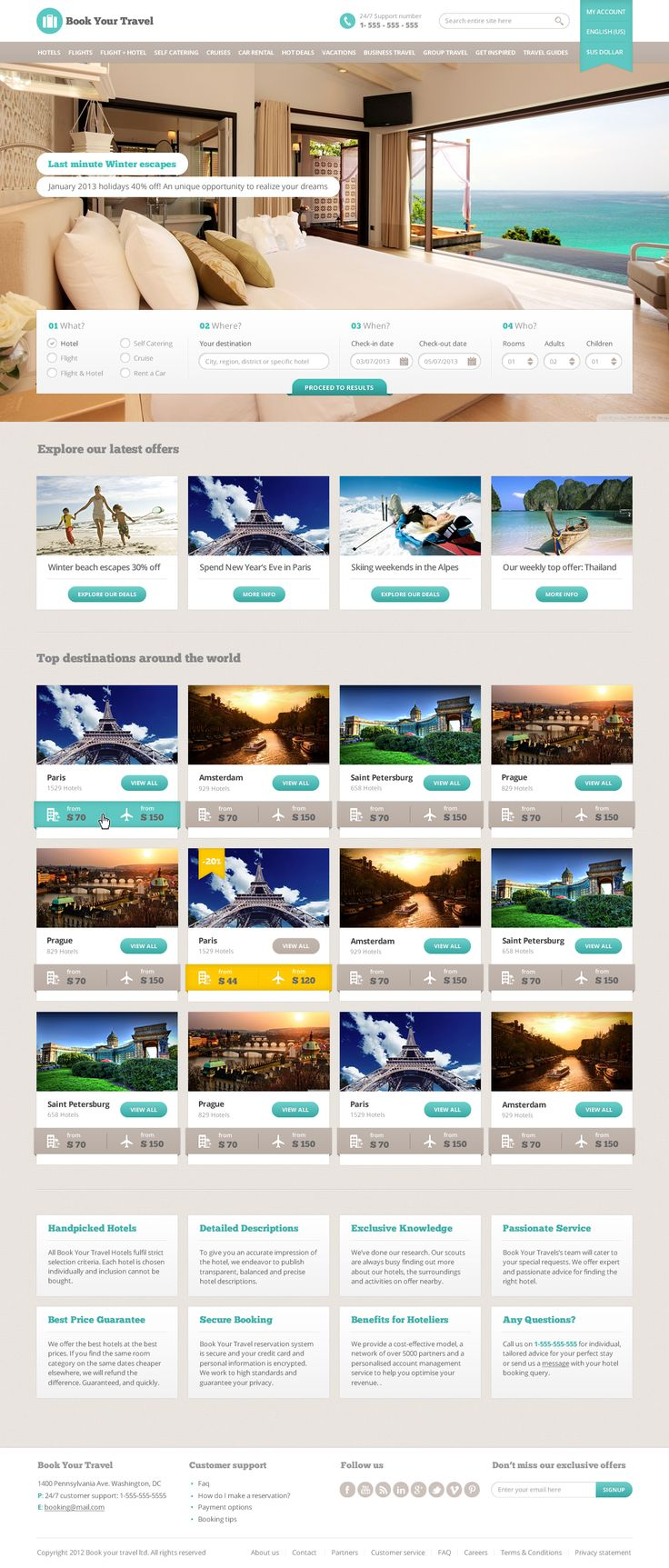 E e-book Your Journey – On-line Reserving Template by themeenergy | ThemeForest
