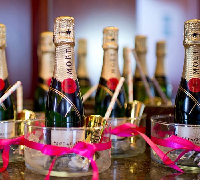 Awesome Small Bottles Of Champagne For Wedding Favors Gallery
