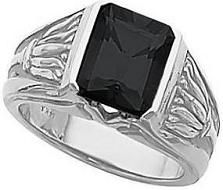 #Jewelry #Rings 18K White Gold Mens Onyx Ring