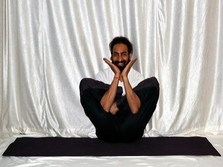 """Asanas are the physical movements of yoga practice and, in combination with pranayama or breathing techniques constitute the style of yoga referred to as Hatha Yoga. In the Yoga Sutra, Patanjali describes asana as a """"firm, comfortable posture"""", referring specifically to the seated posture, most basic of all the asanas."""