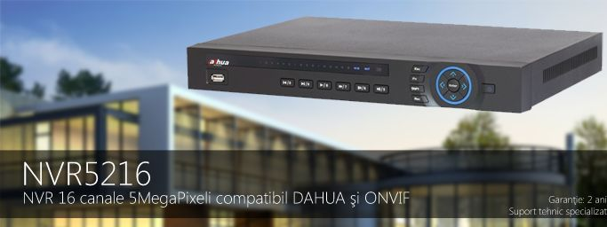 NVR AVANSAT 16 CANALE FULLHD 2 HDD NVR5216