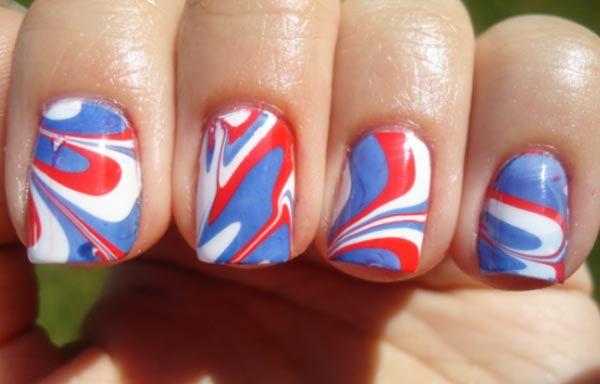 Diseños de uñas con agua o marmoleado, diseño de uñas con agua marmoleadas.   #diseñatusuñas #nails #uñasbonitas