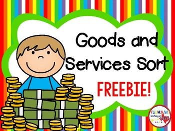 Students will color, cut, sort and glue pictures of goods and services! This would be a great and simple assessment! Dont forget to leave feedback for your purchase. Please go to your My Purchases page and beside each purchase you will see a Provide Feedback button.