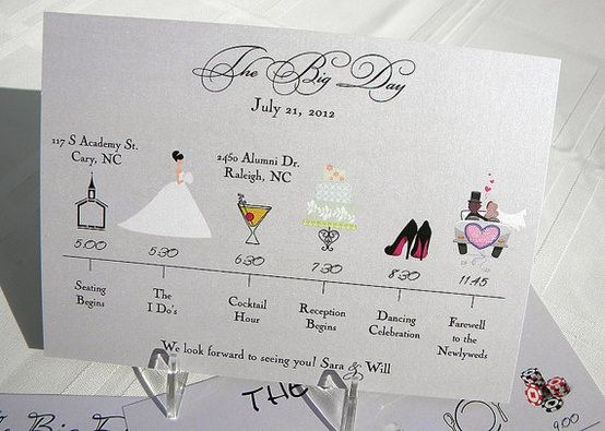 The  Best Wedding Program Etiquette Ideas On