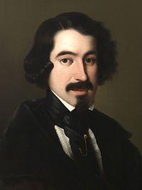 Este es un retrato de Esquivel al escritor José de Espronceda.