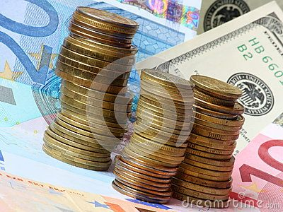 Money - Euro And Dollars - Download From Over 60 Million High Quality Stock Photos, Images, Vectors. Sign up for FREE today. Image: 44573494