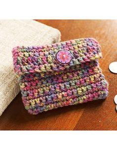 Best Free Crochet » Free Crochet Change Purse Crochet Pattern from RedHeart.com