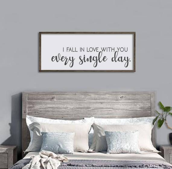 Master Bedroom Wall Decor I Fall In Love With You Every Master Bedroom Wall Decor Guest Room Decor Wall Decor Bedroom