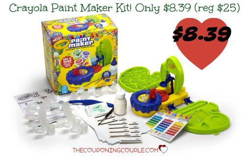 WOO HOO! Your little artist will love this! Get the Crayola Paint Maker Kit for only $8.39 (reg $24.99!) It would be awesome to grab it now at this price to put up for a gift!  Click the link below to get all of the details ► http://www.thecouponingcouple.com/crayola-paint-maker-kit-only-8-39-reg-24-99/  #Coupons #Couponing #CouponCommunity  Visit us at http://www.thecouponingcouple.com for more great posts!