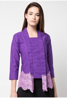 Kebaya Kutu Baru Emboss from Griya Batik MAS in purple_1