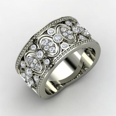 The Renaissance Band #customizable #jewelry #diamond #platinum