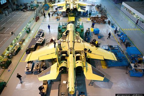 These RivetingPhotos Show How Russia's Su-34 Fullback Fighter-Bombers Get Built