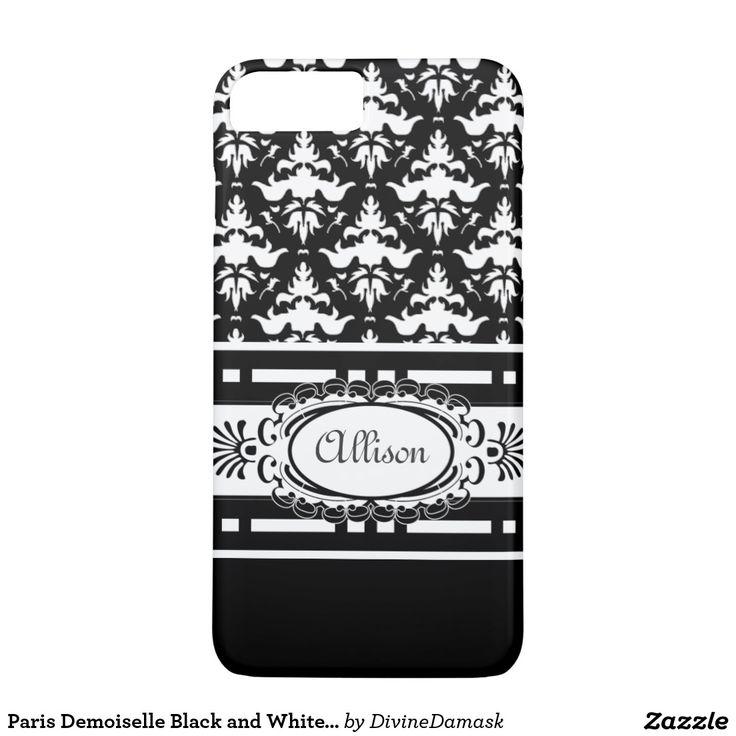 Paris Demoiselle Black and White Damask iPhone 7 Plus Case