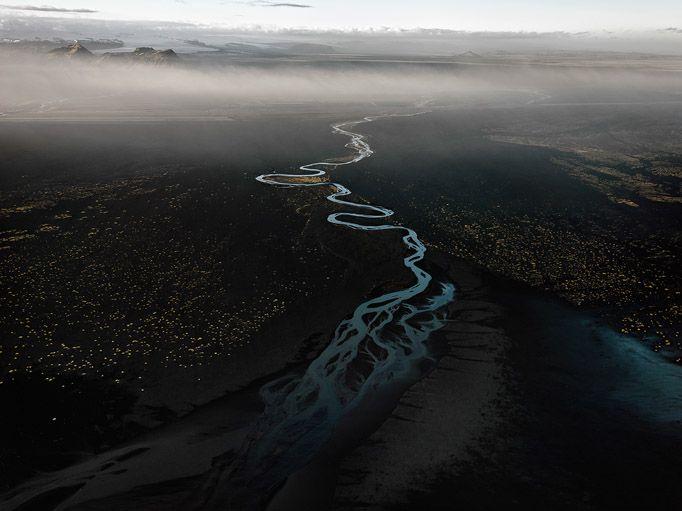 Epic Photos Expose Mankind's Uneasy Relationship With Water | Dyralaekir River on Myrdalssandur, Iceland, 2012  Edward Burtynsky  | WIRED.com