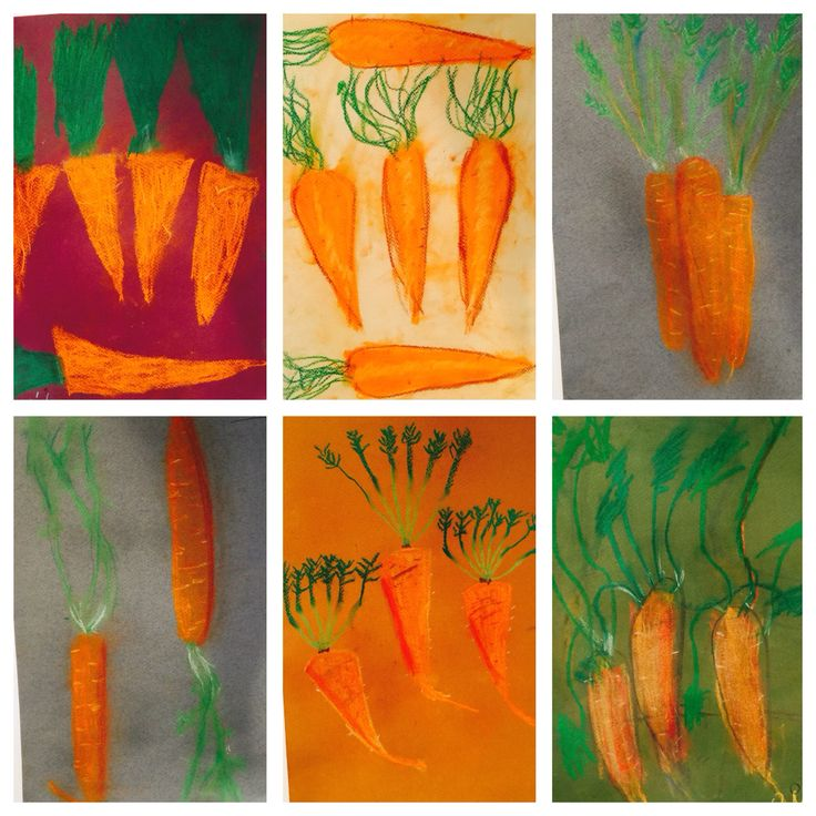 #drawing class for 6-12 yr olds #pastels #carrots #childrensart