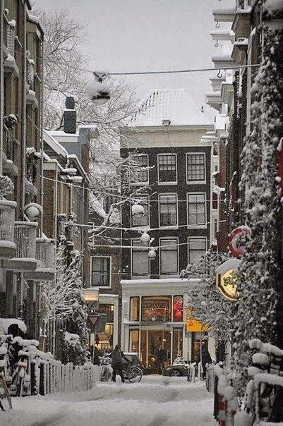 Snow in, Amsterdam