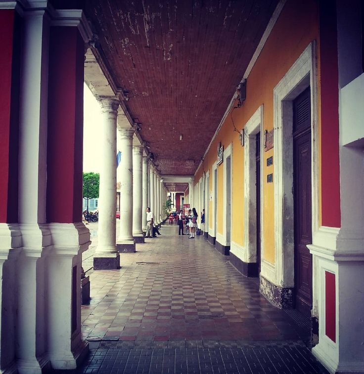 #repost @casa.silas the corridors on the Plaza de la Independencia #visitnicaragua #travel #tourismgranada #vacation #holidays #nicaragua